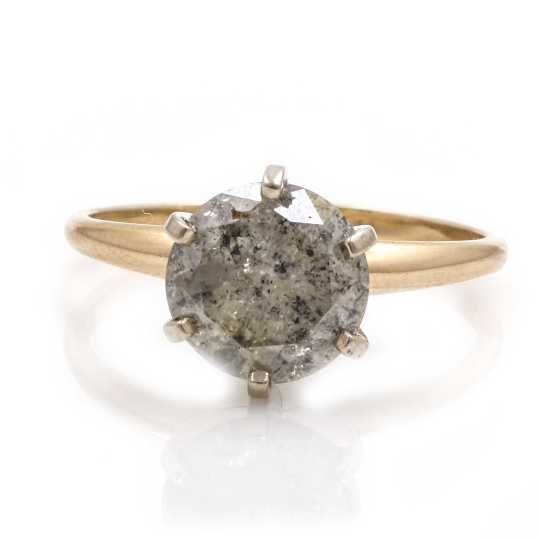 14K Yellow Gold and 2.92 CTS Diamond Ring