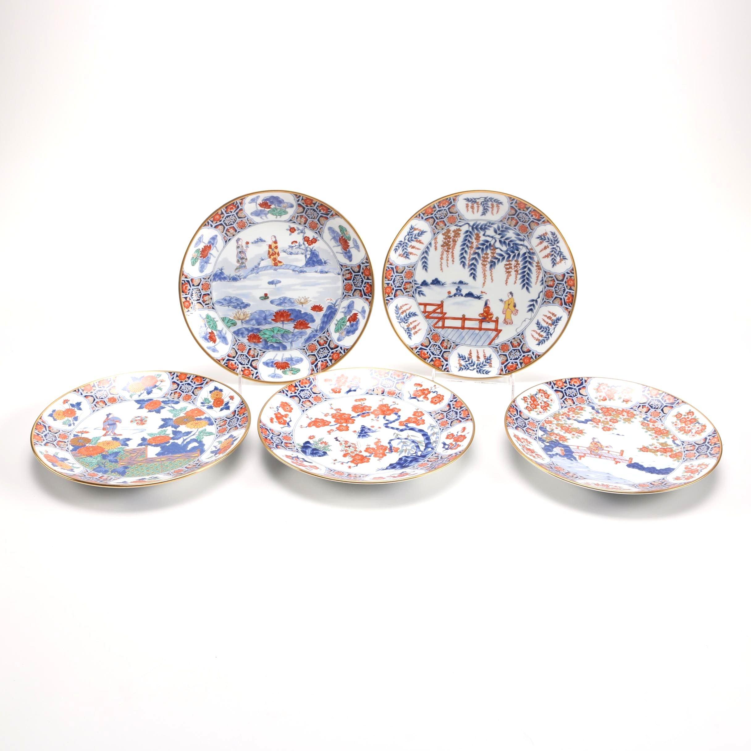 Hand Painted Japanese Imari Plates