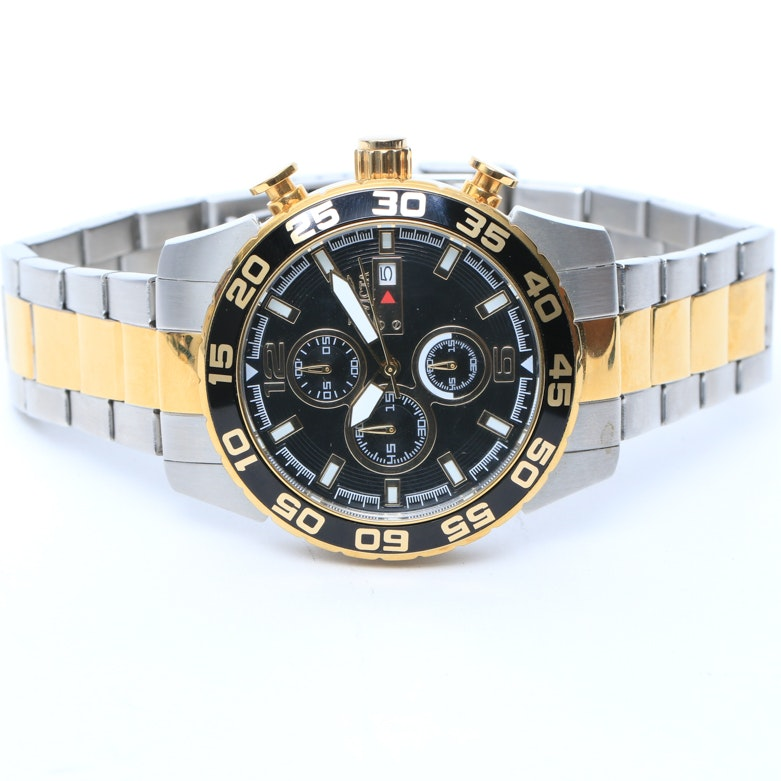Invicta Chronograph Two-Tone Stainless Steel Men's Wristwatch