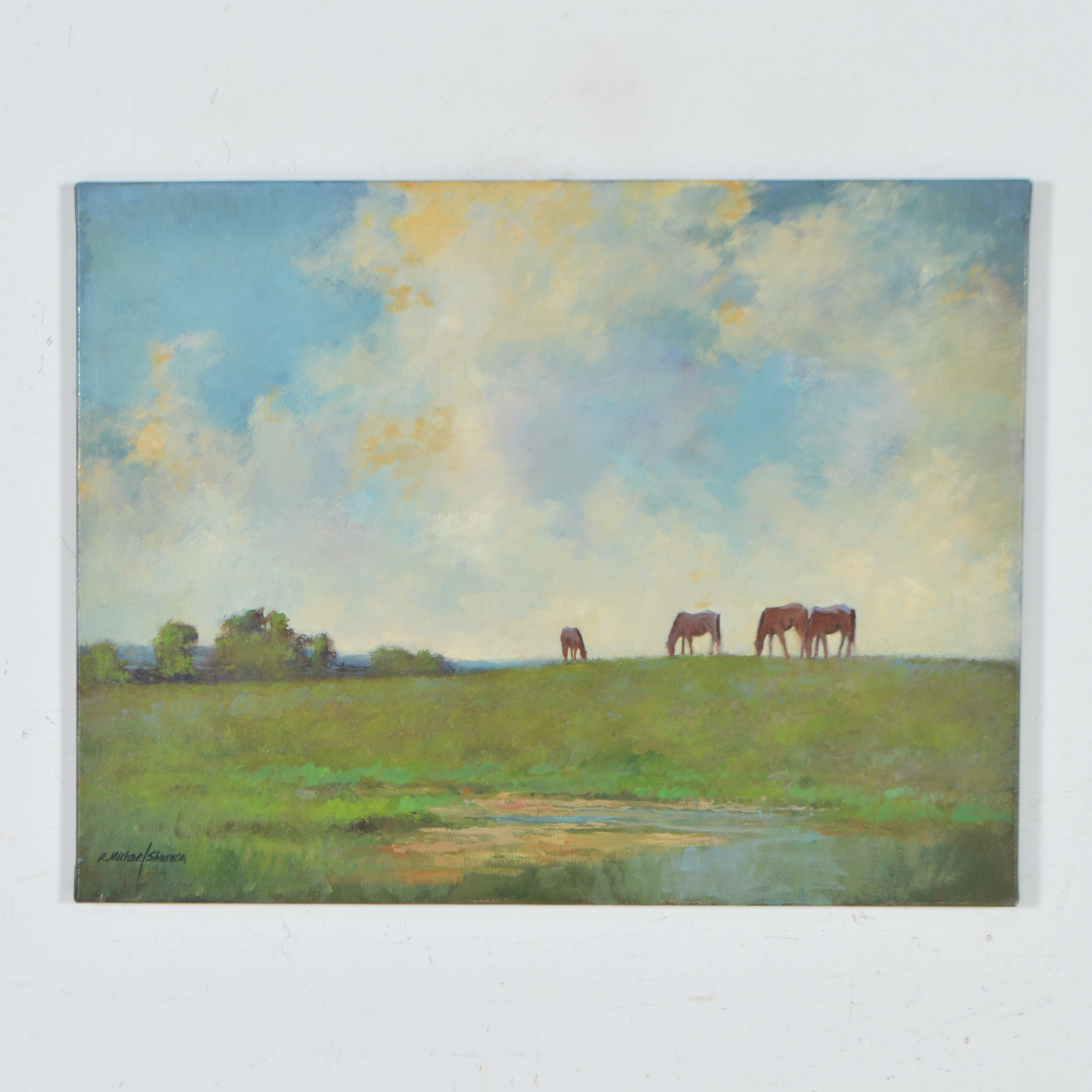 R. Michael Shannon Oil Painting of Horses