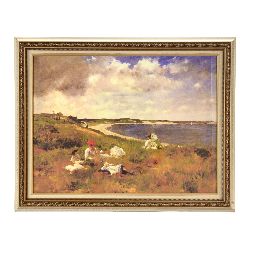 """After William Merritt Chase Giclée on Canvas""""Idle Hours"""""""