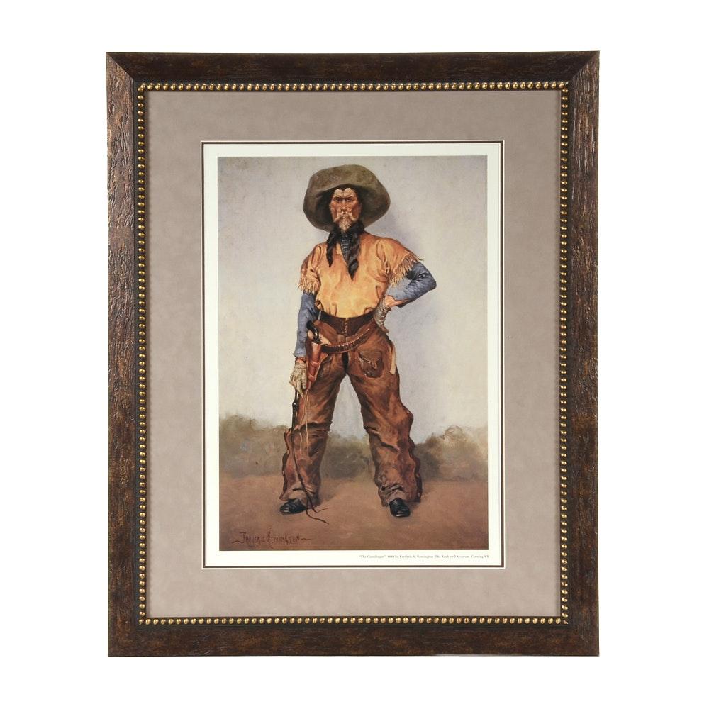 "After Frederic Remington Offset Lithograph ""The Gunslinger"""