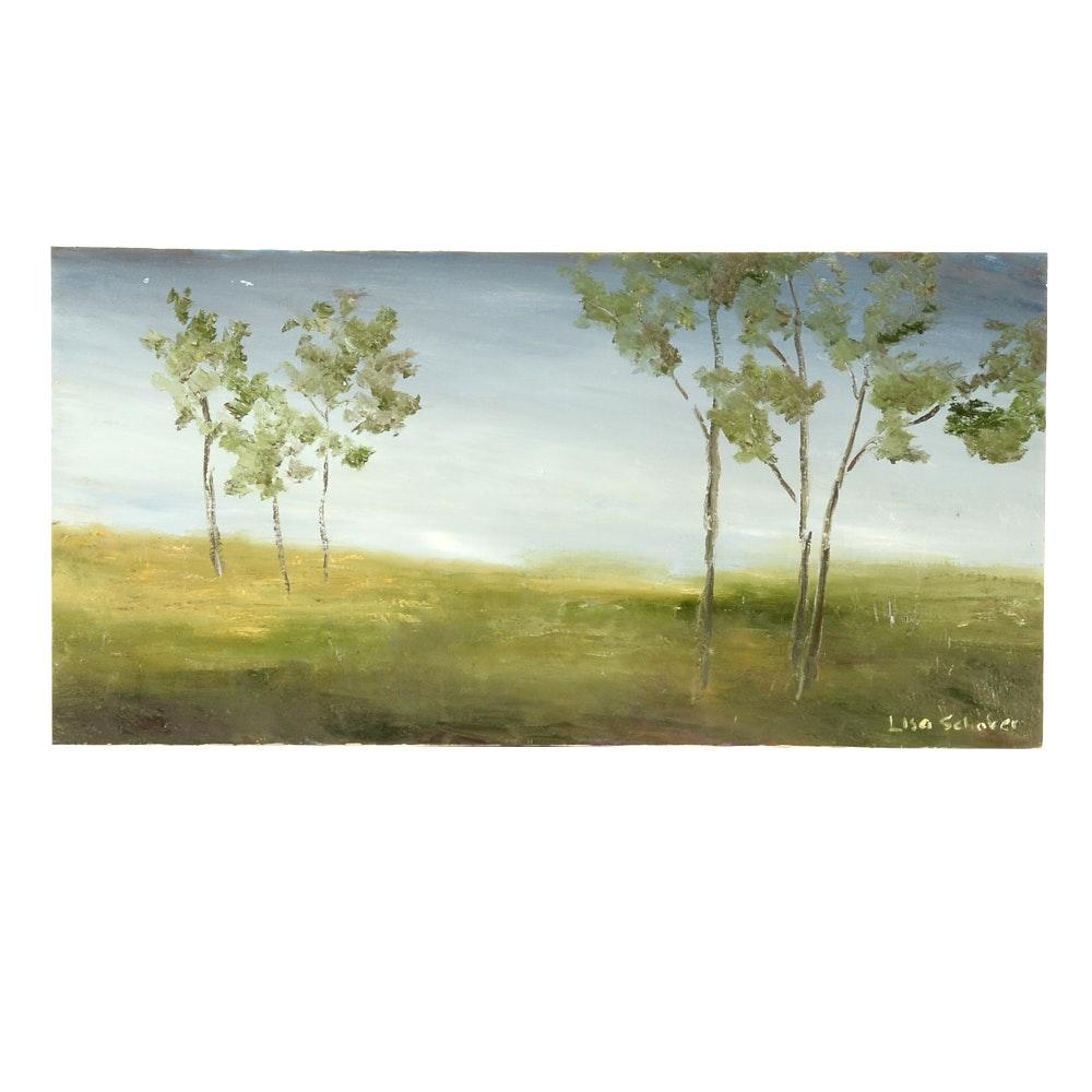 "Lisa Schafer Oil on Canvas ""Misty Morning"""