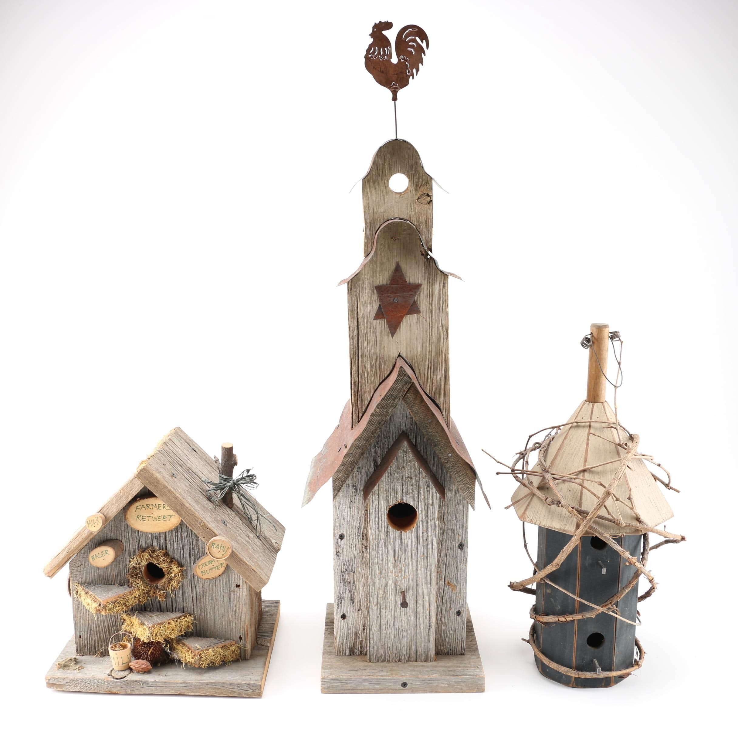 Assortment of Wooden Birdhouses
