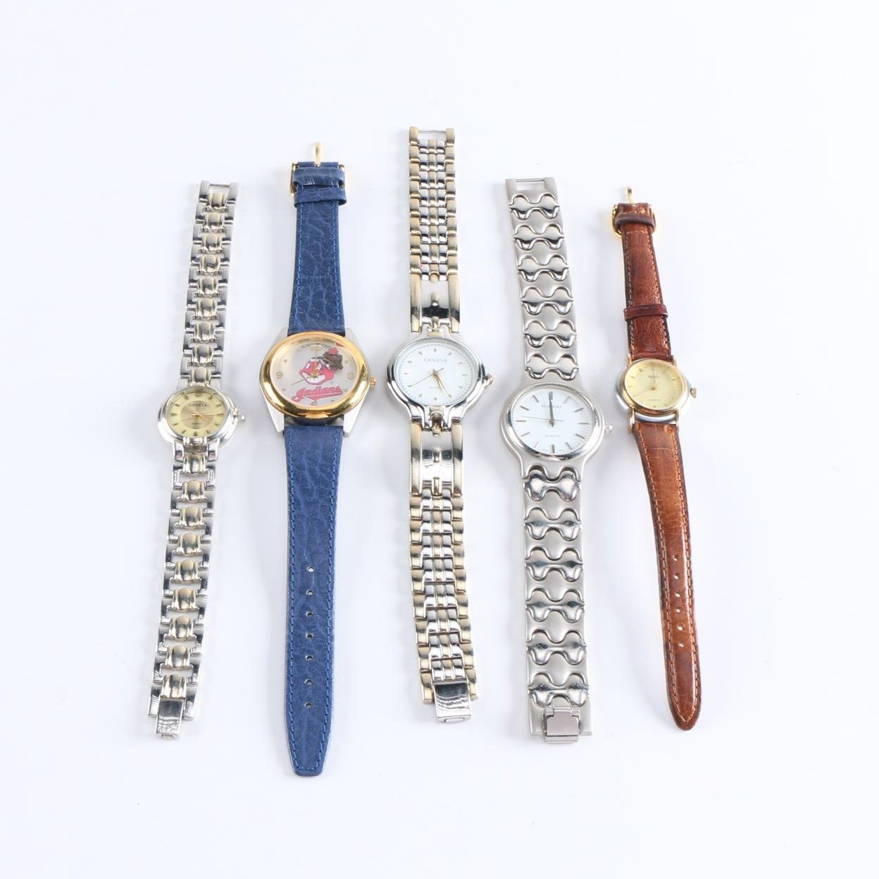 Women's Wristwatches Including Cleveland Indians