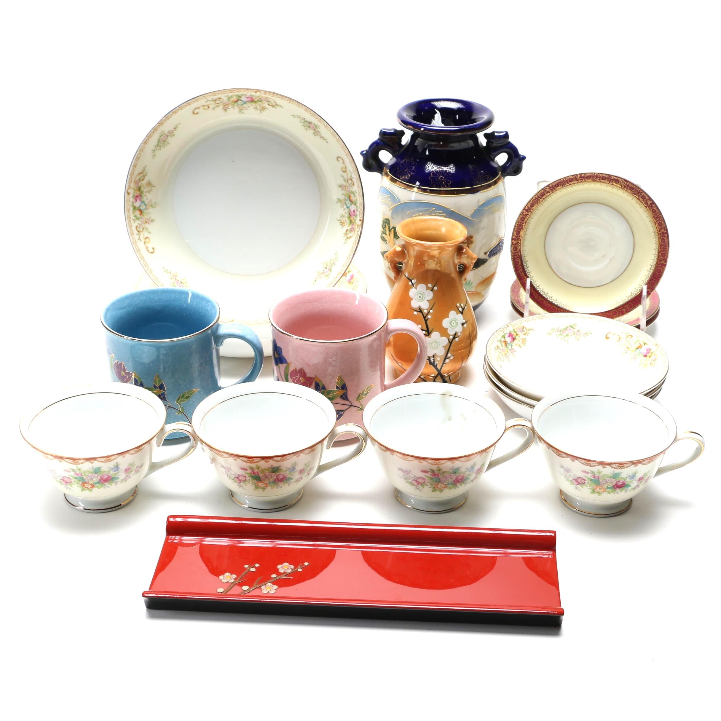 Japanese Ceramic Tableware Including Meito and Diamond China