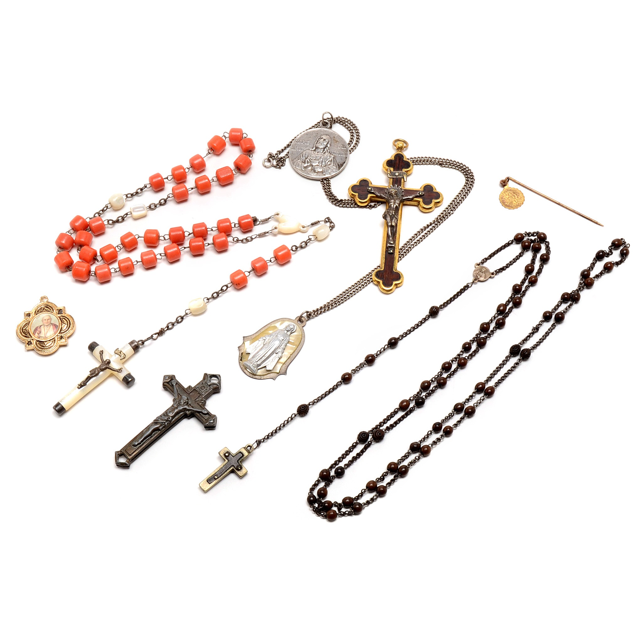Religious Medallions, Crucifixes and Rosaries
