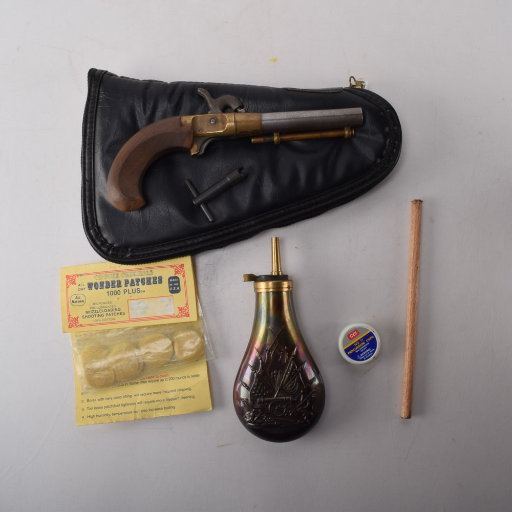 Antique CMC Single-Shot Percussion Pistol
