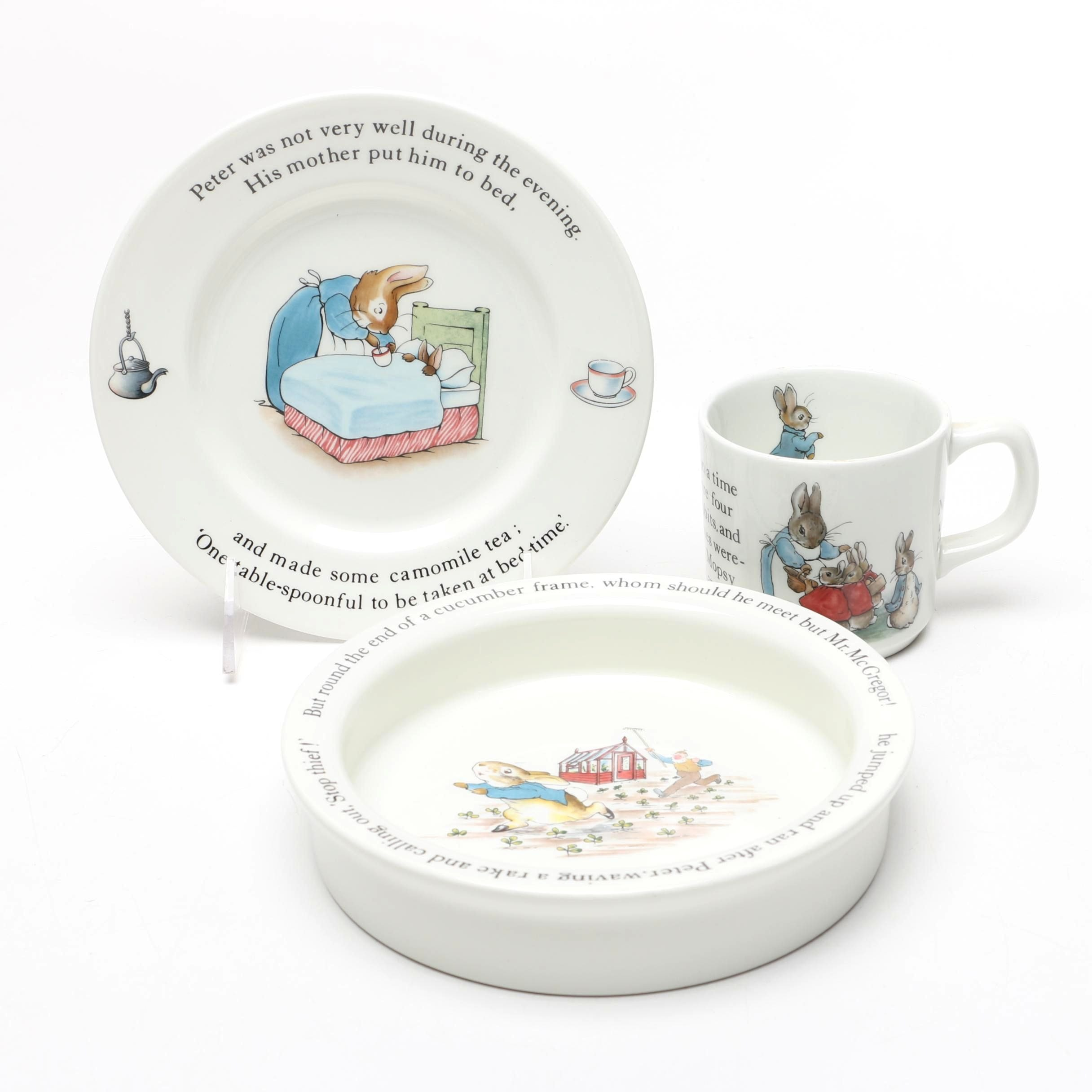 Wedgwood  Peter Rabbit  Childrenu0027s Tableware ...  sc 1 st  EBTH.com & Wedgwood