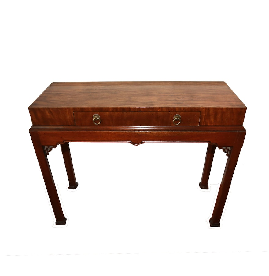 Chinese chippendale style console table ebth chinese chippendale style console table geotapseo Gallery
