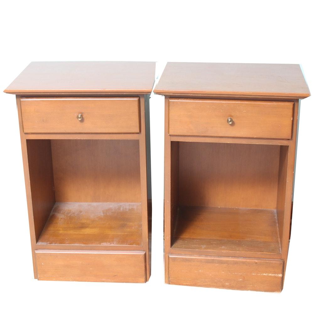 Pair of Vintage Wooden Nightstands