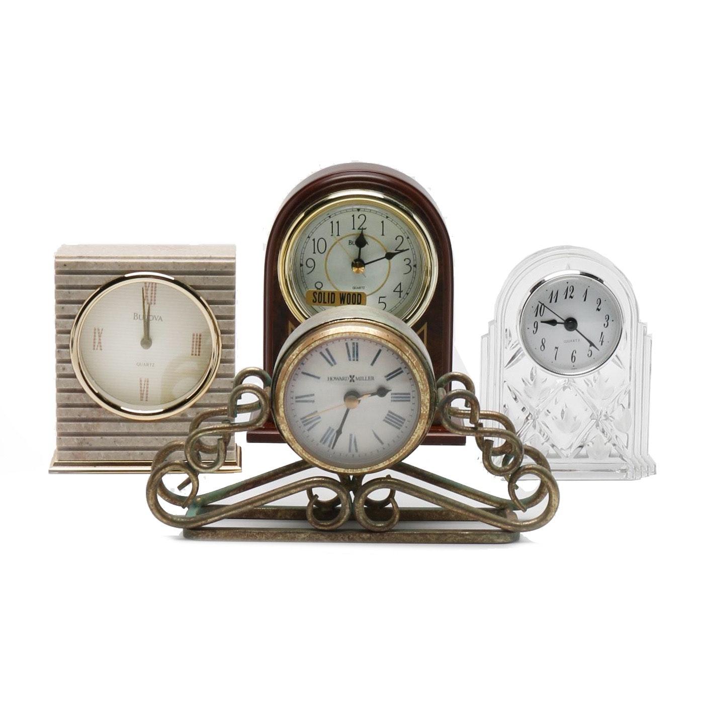 Mantel and Desk Clocks Including Bulova