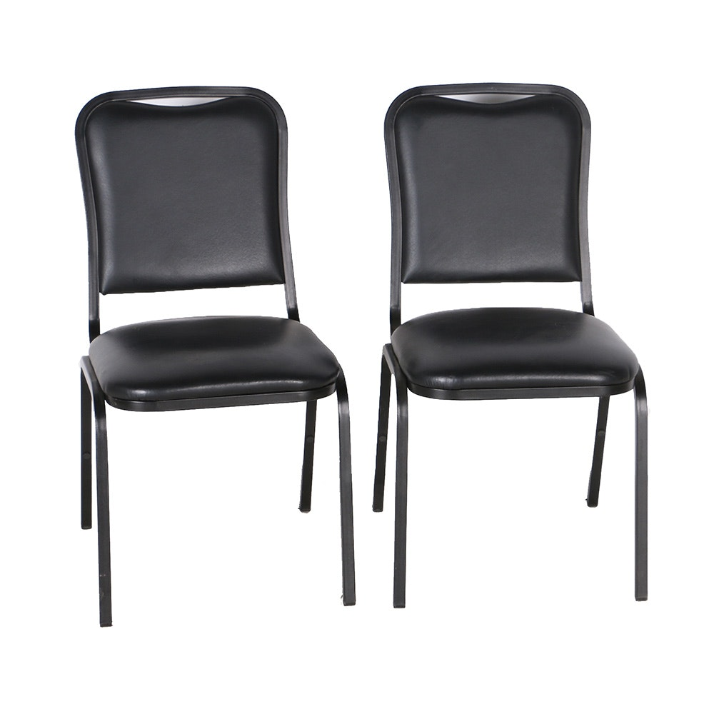 Black Vinyl Stack Chairs By FDL ...