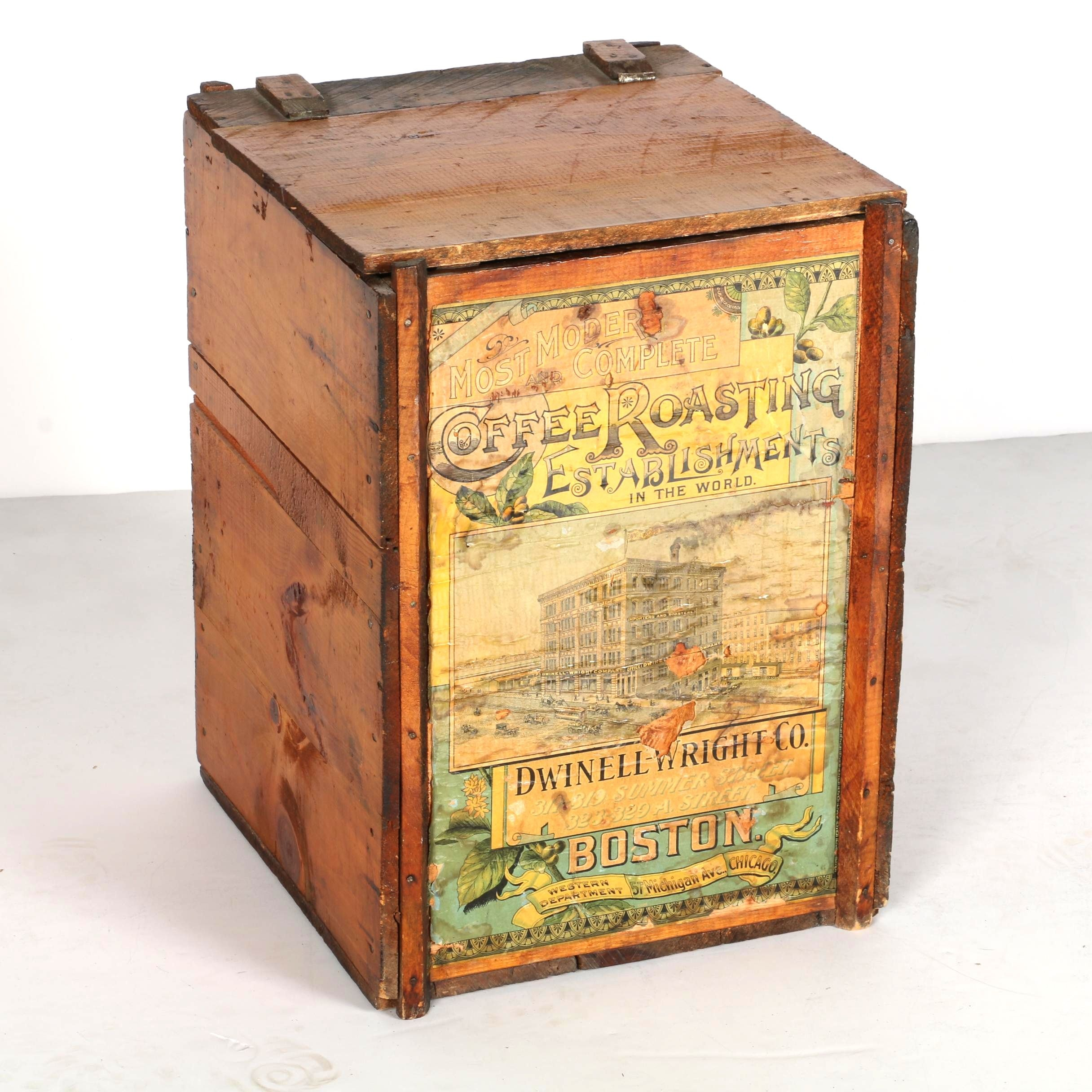 Vintage Dwinell-Wright Co. Boston Coffees Crate