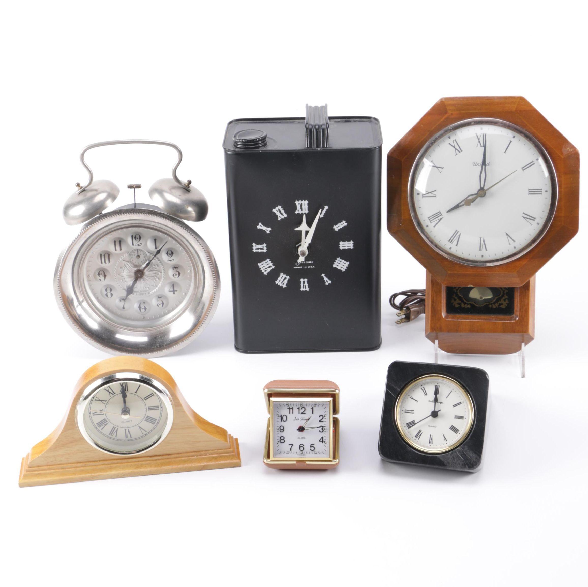 Assorted Clocks Including Seth Thomas