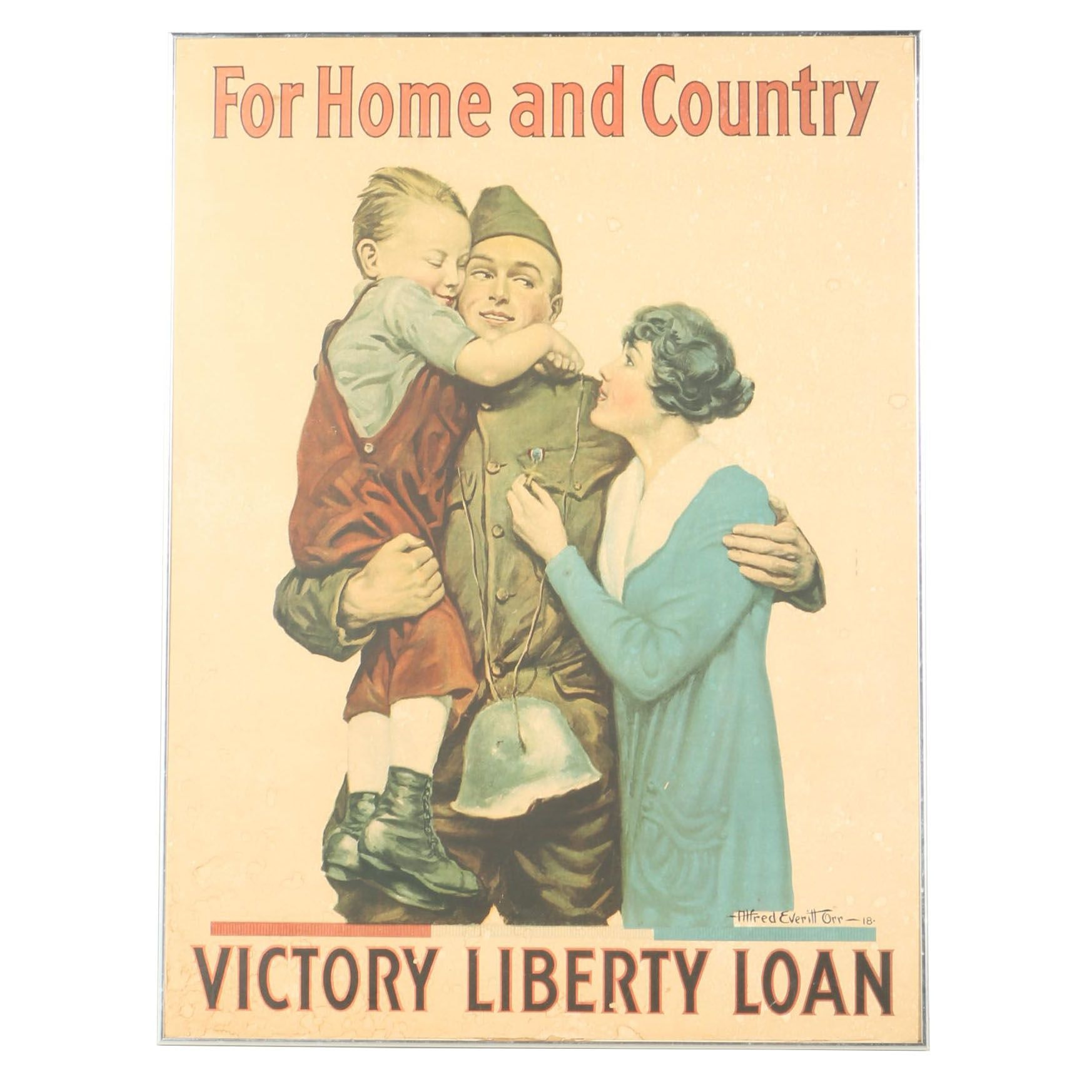 WWI American Propaganda Poster for Victory Liberty Loan