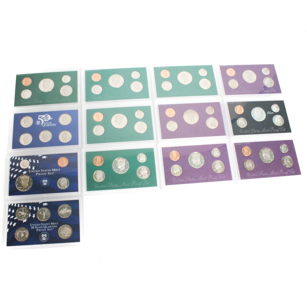 United States 1990's Proof Sets
