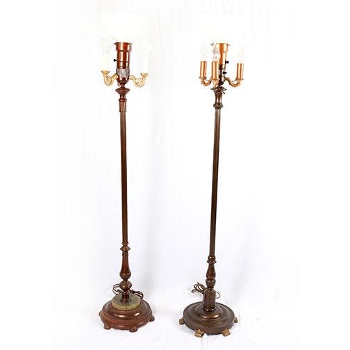 Pair Of Vintage Metal Floor Lamps