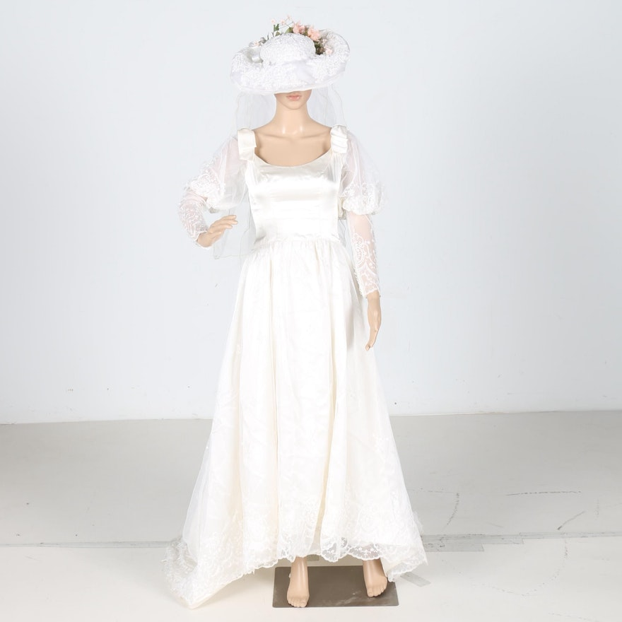 1980s Wedding Dress by Bianchi of Boston : EBTH