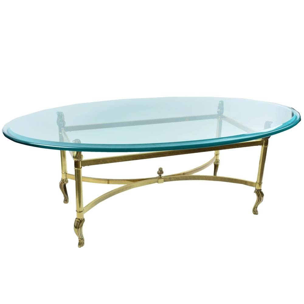 LeBarge Glass Top Coffee Table