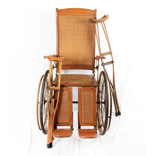 Antique Cane Wheelchair and Crutches
