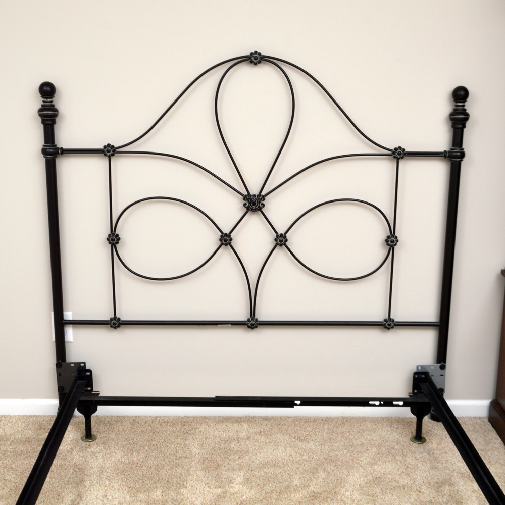 Black Metal Full/Queen Headboard and Frame
