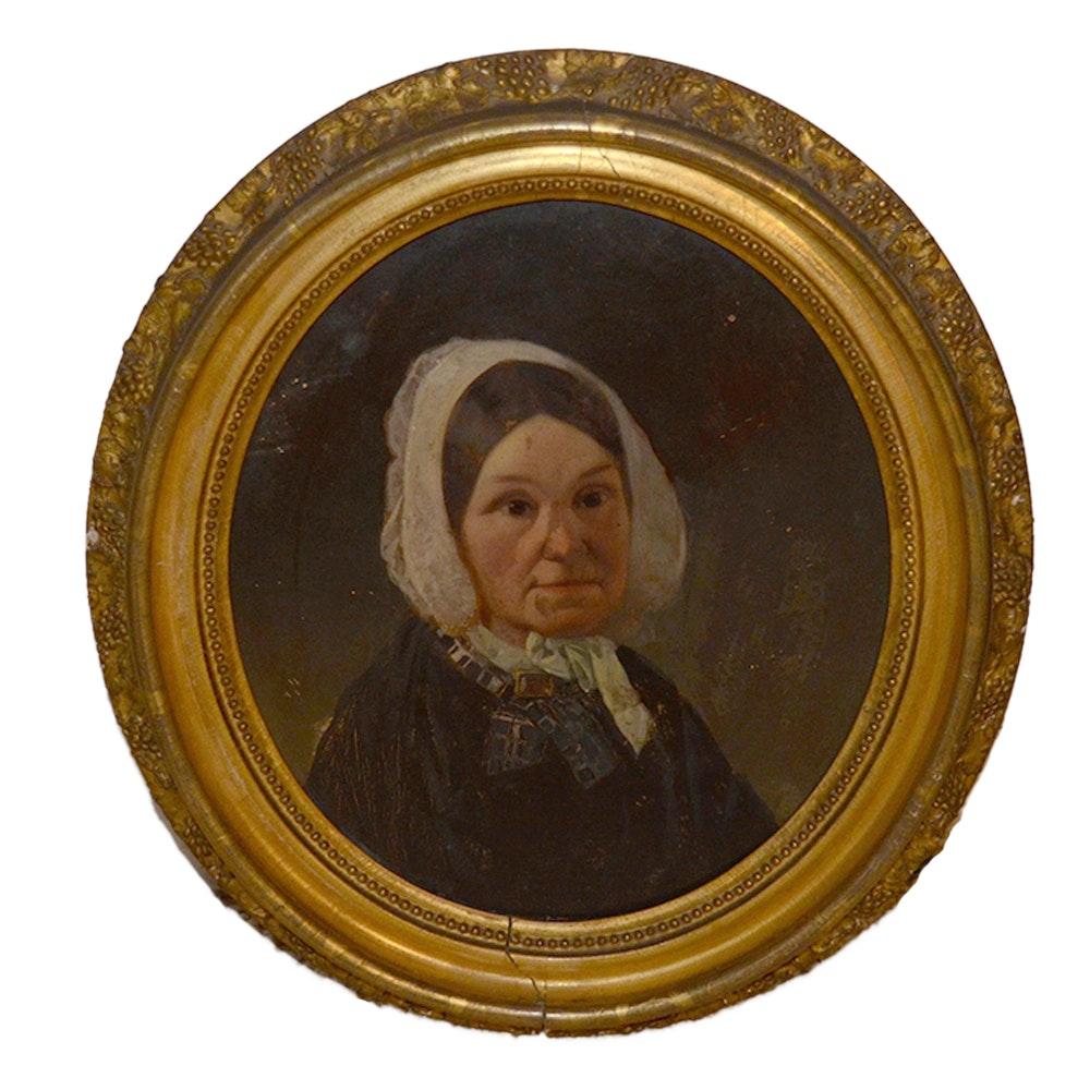 "Framed Oil Portrait Painting ""Rebecca Warner"""
