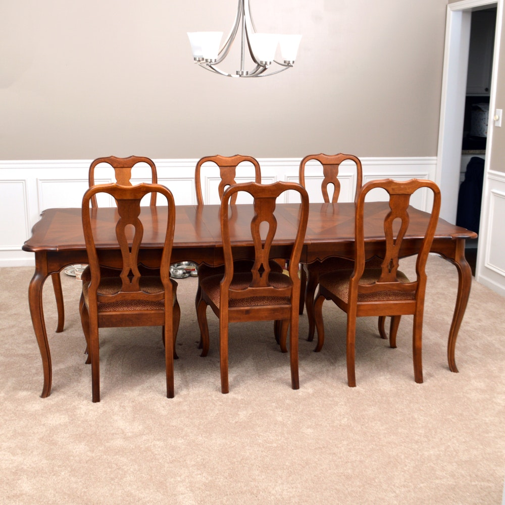 Ethan Allen Dining Table Set ...