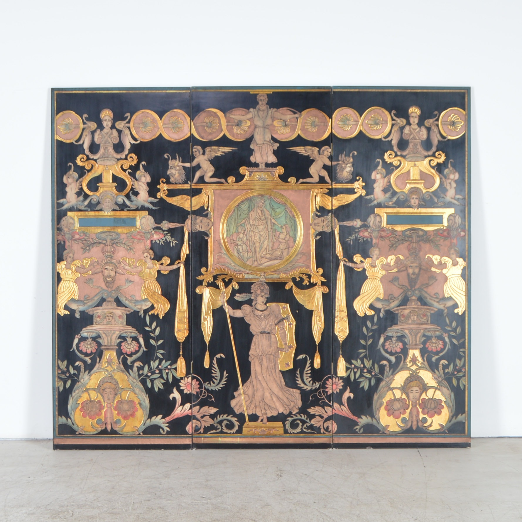 Classical Style Three-Panel Room Divider