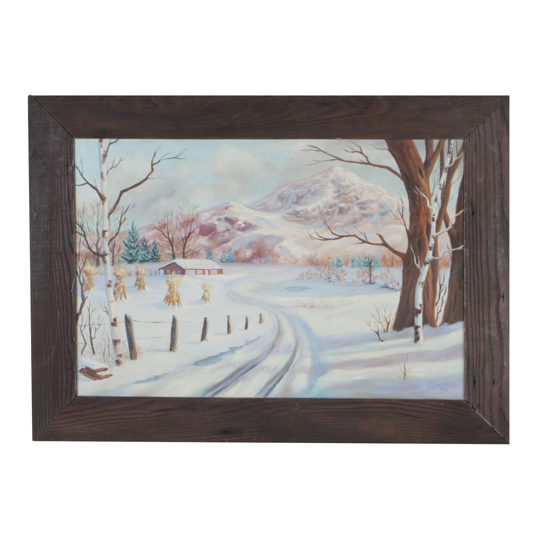 Fritz Oil Painting of a Winter Landscape