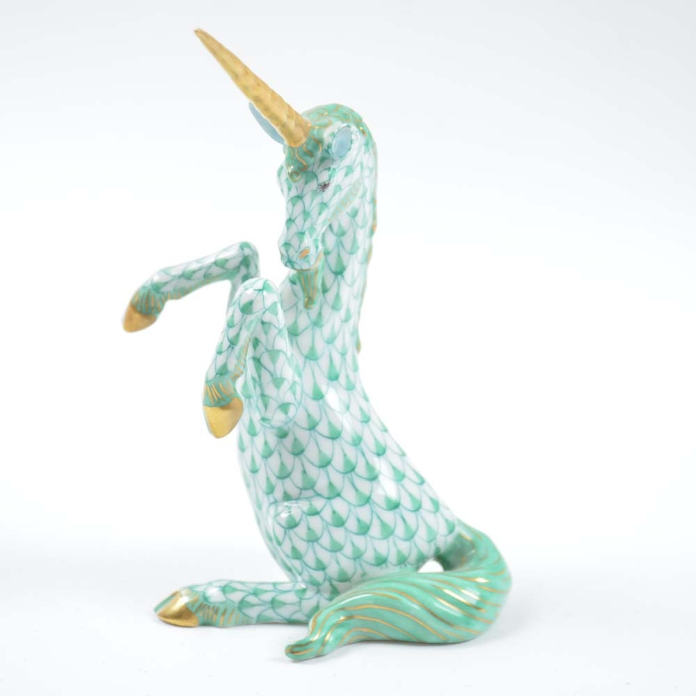 Herend Hand-Painted Unicorn Porcelain Figurine