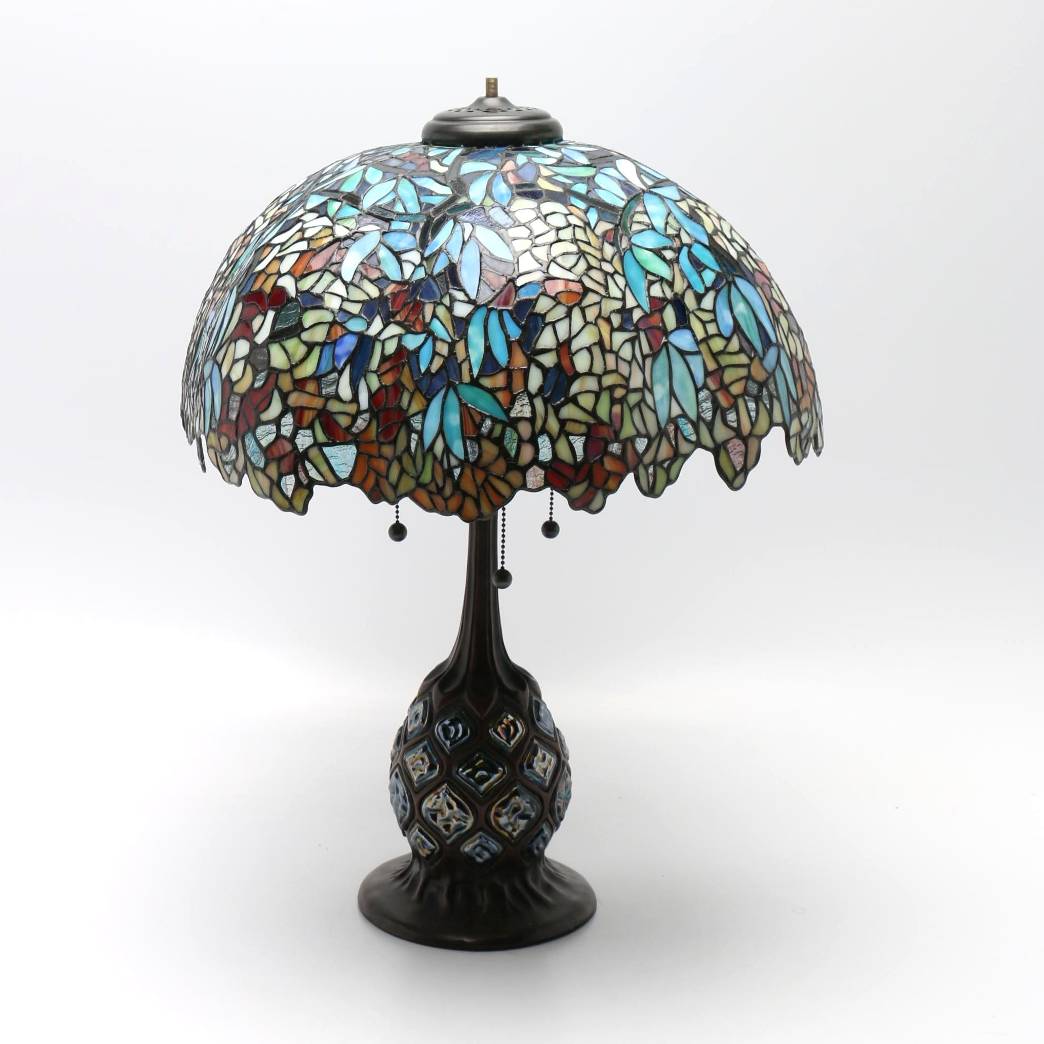 Tiffany Inspired Leaded Stained Glass Lamp