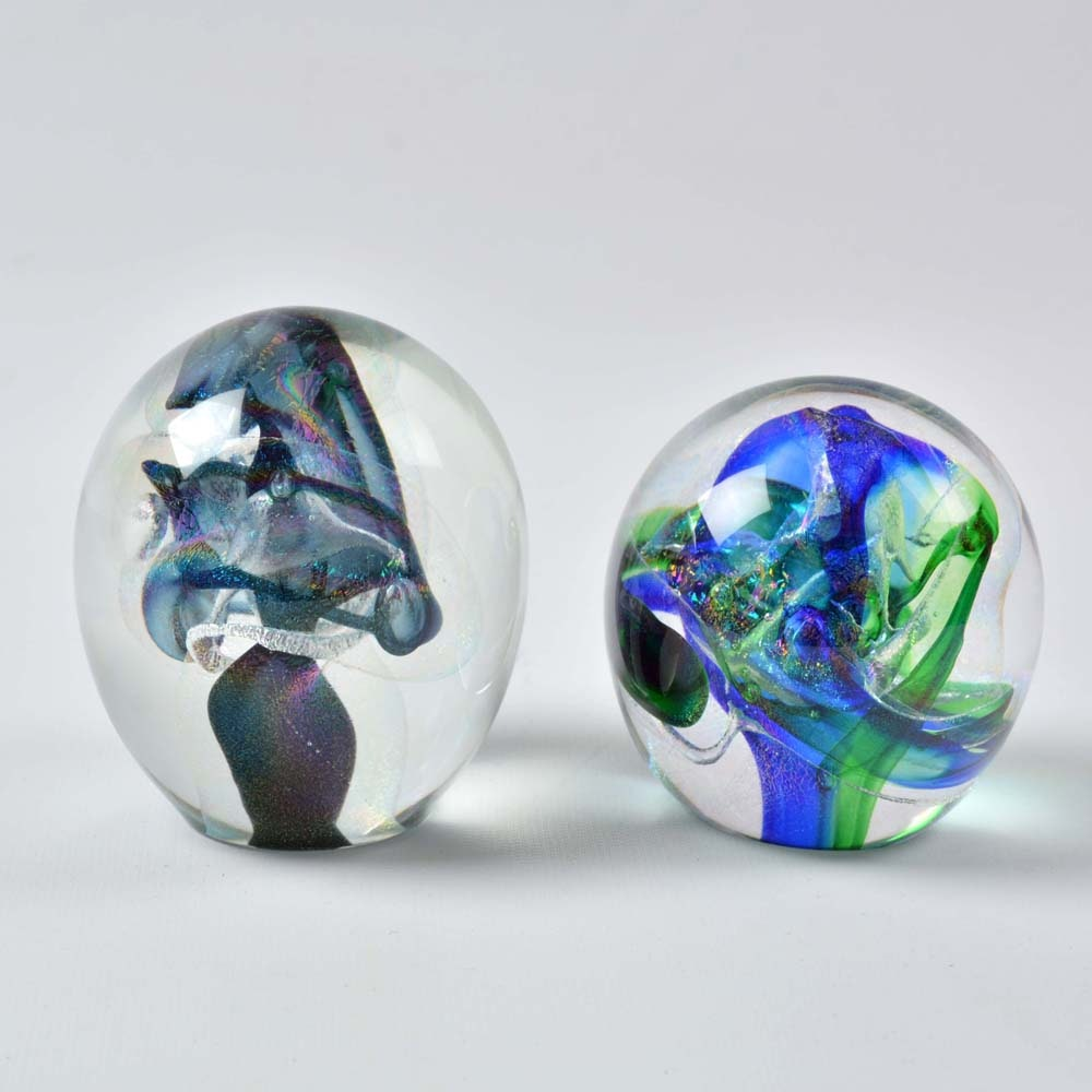 Signed Art Glass Paperweights