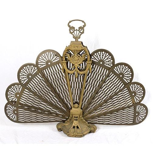 vintage brass peacock fireplace screen ebth