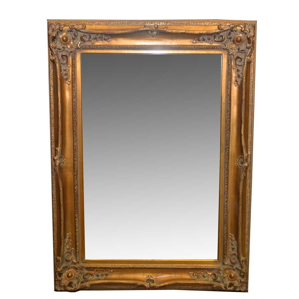 Gilt Tone Framed Wall Mirror