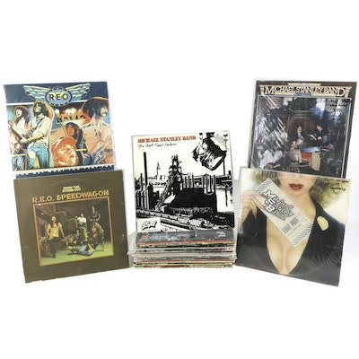 Tom Petty, REO Speedwagon, Micheal Stanley and Other Rock LPs