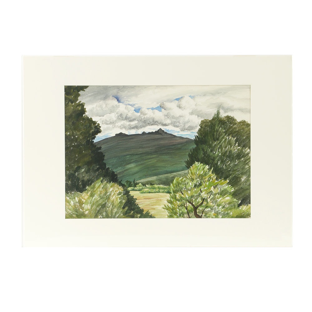 Florence Bartley Smithburn Watercolor on Paper Landscape