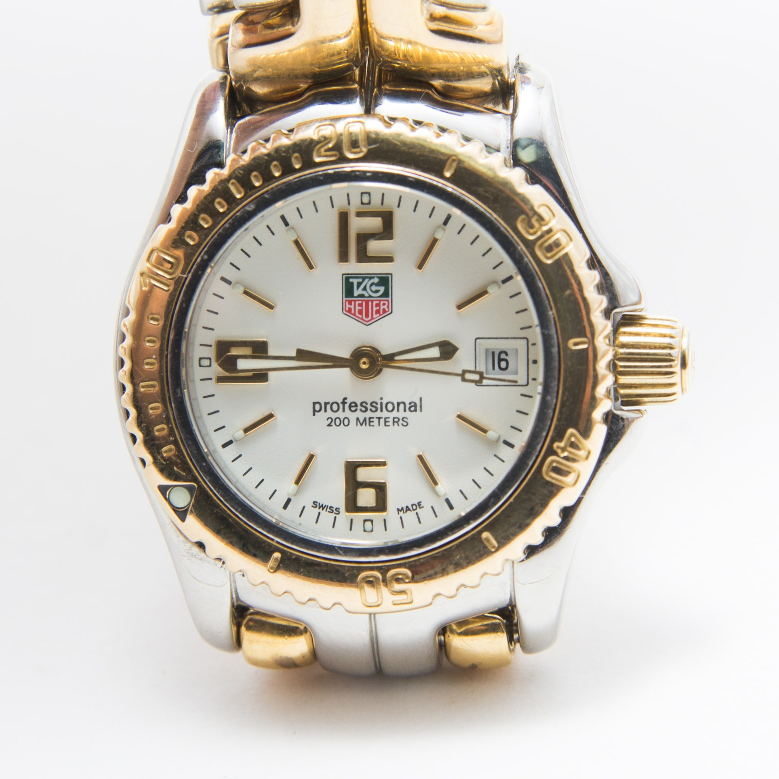 18K Gold and Stainless Steel Tag Heuer Wristwatch