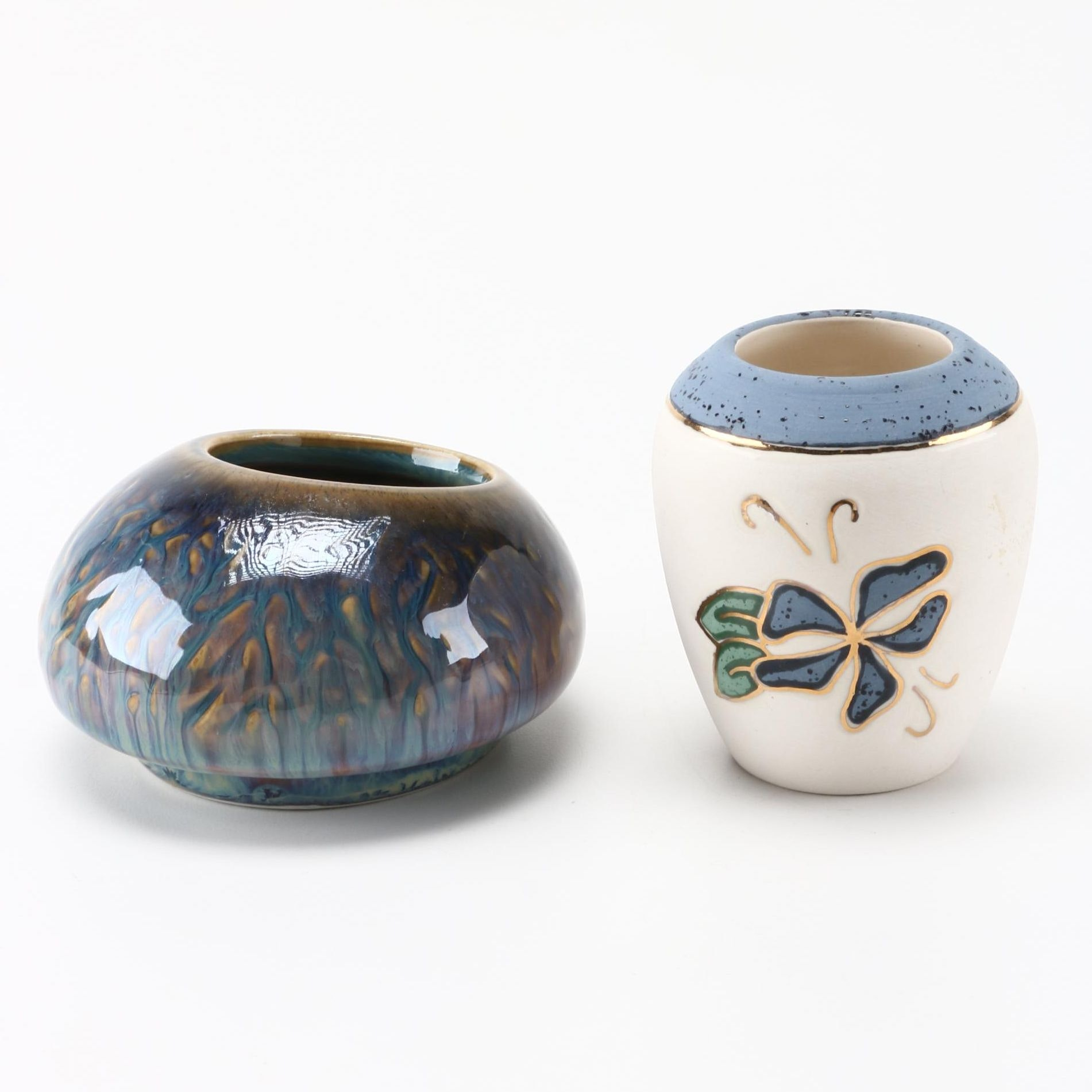 Pair of Contemporary Hand Thrown Pots