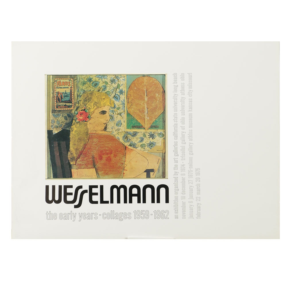 Offset Lithograph Poster for Tom Wesselmann Exhibition
