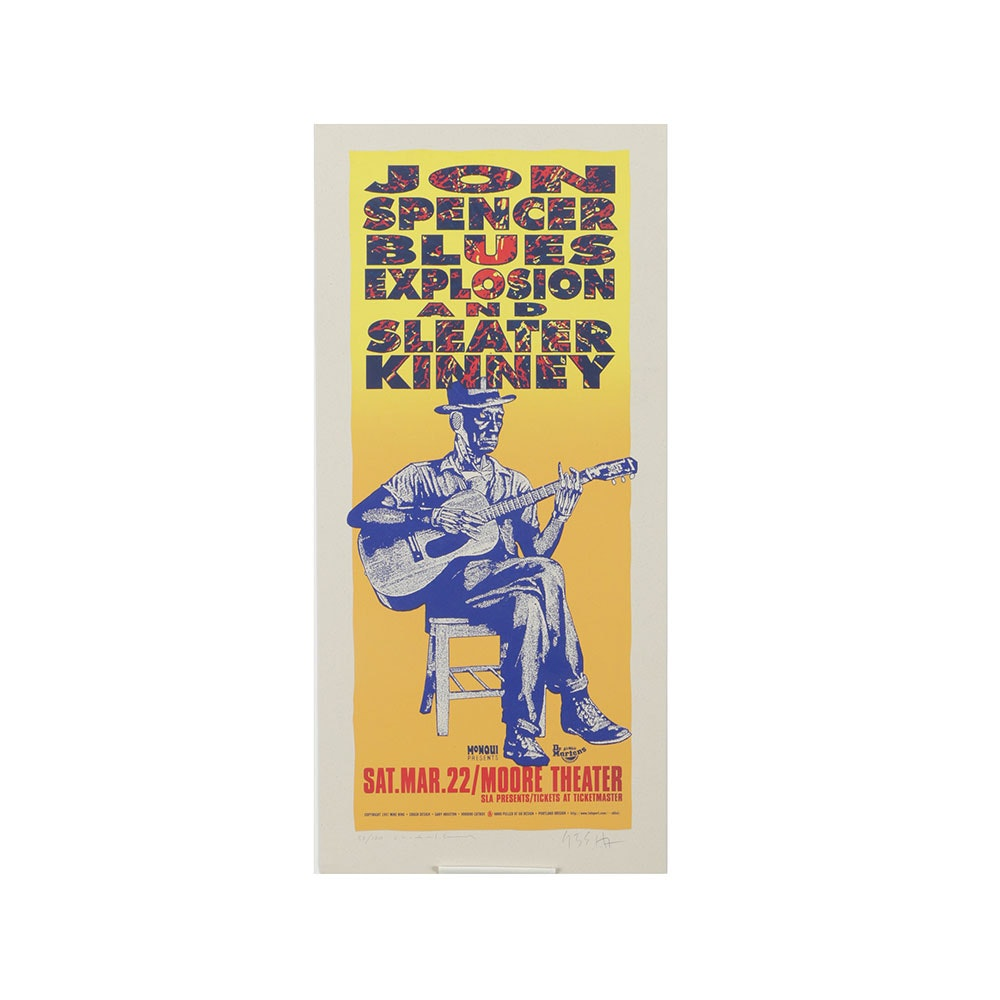 Mike King and Gary Houston Limited Edition Serigraph Poster for Jon Spencer Blues Explosion and Sleater Kinney Concert