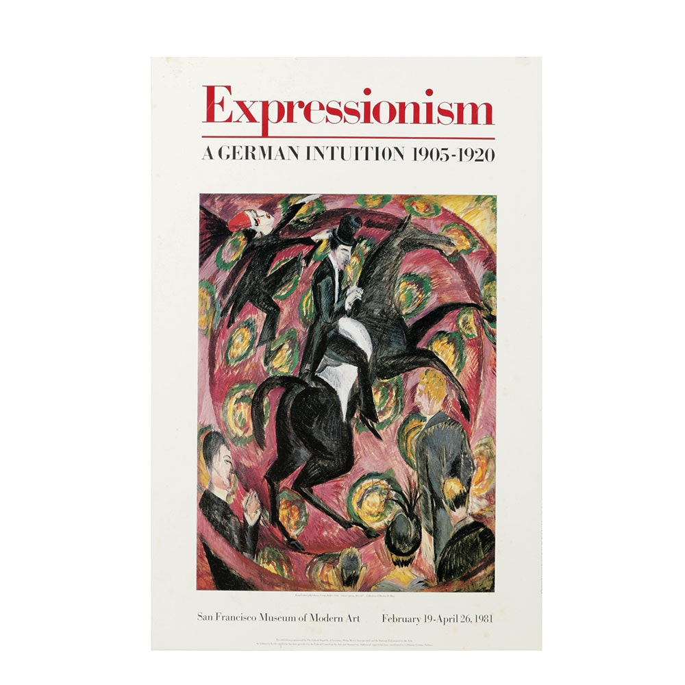 Offset Lithograph Poster for German Expressionism Exhibition