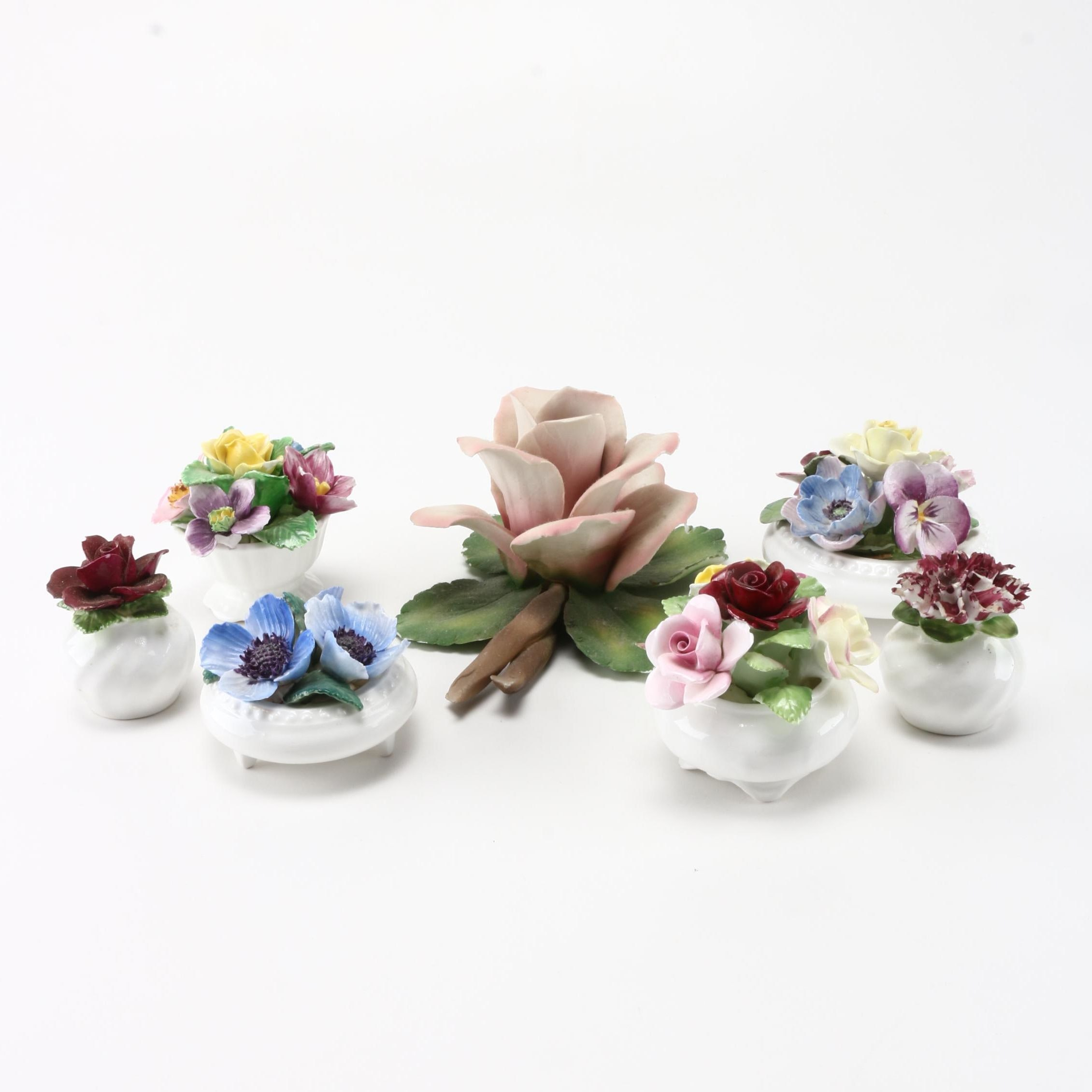 Bone China Floral Figures Featuring Royal Doulton