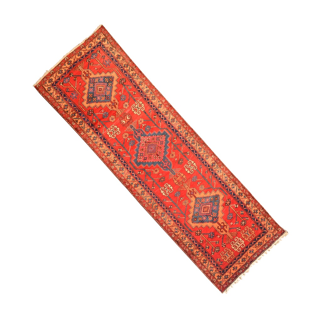 Wool Hand-Knotted Persian Runner