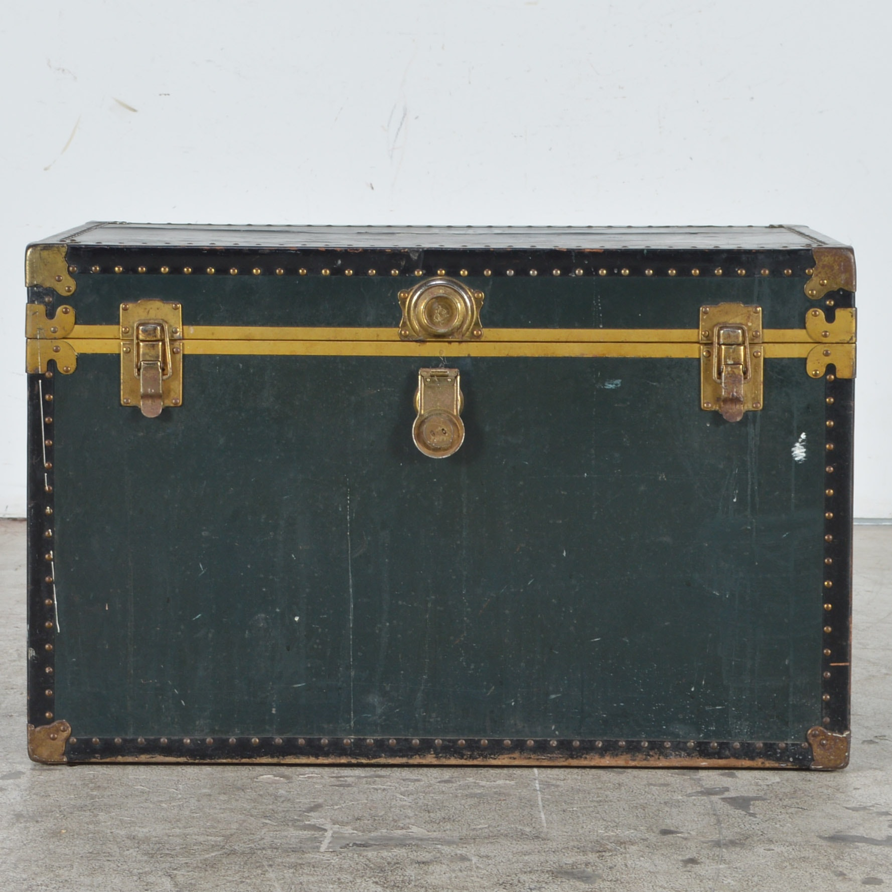 Antique Metal Storage Trunk