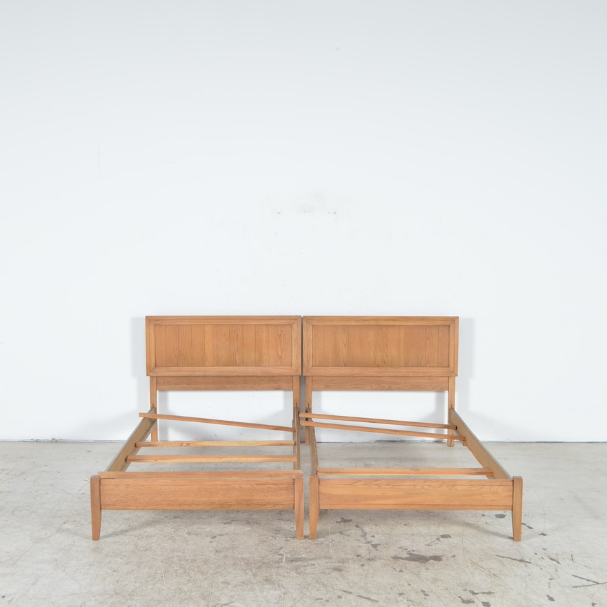 pair of mid century modern twin bed frames - Mid Century Picture Frames