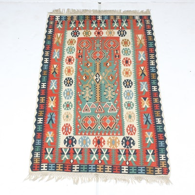 Hand-Knotted Turkish Caucasian Kilim