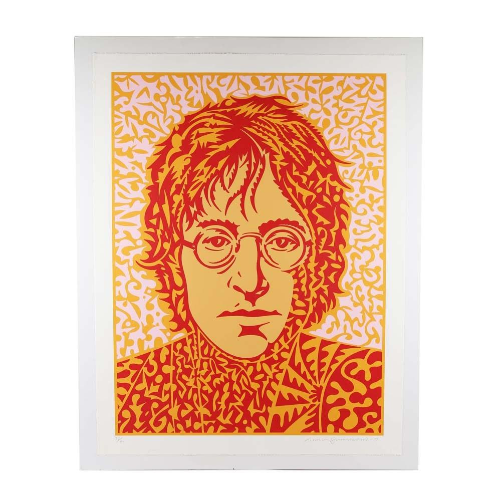 "John Van Hamersveld Signed Limited Edition ""John Lennon"" Serigraph"
