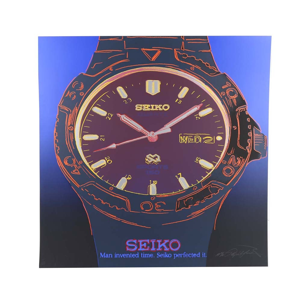 """Rupert Jasen Smith """"Seiko"""" Signed Limited Edition Screenprint with Diamond Dust"""