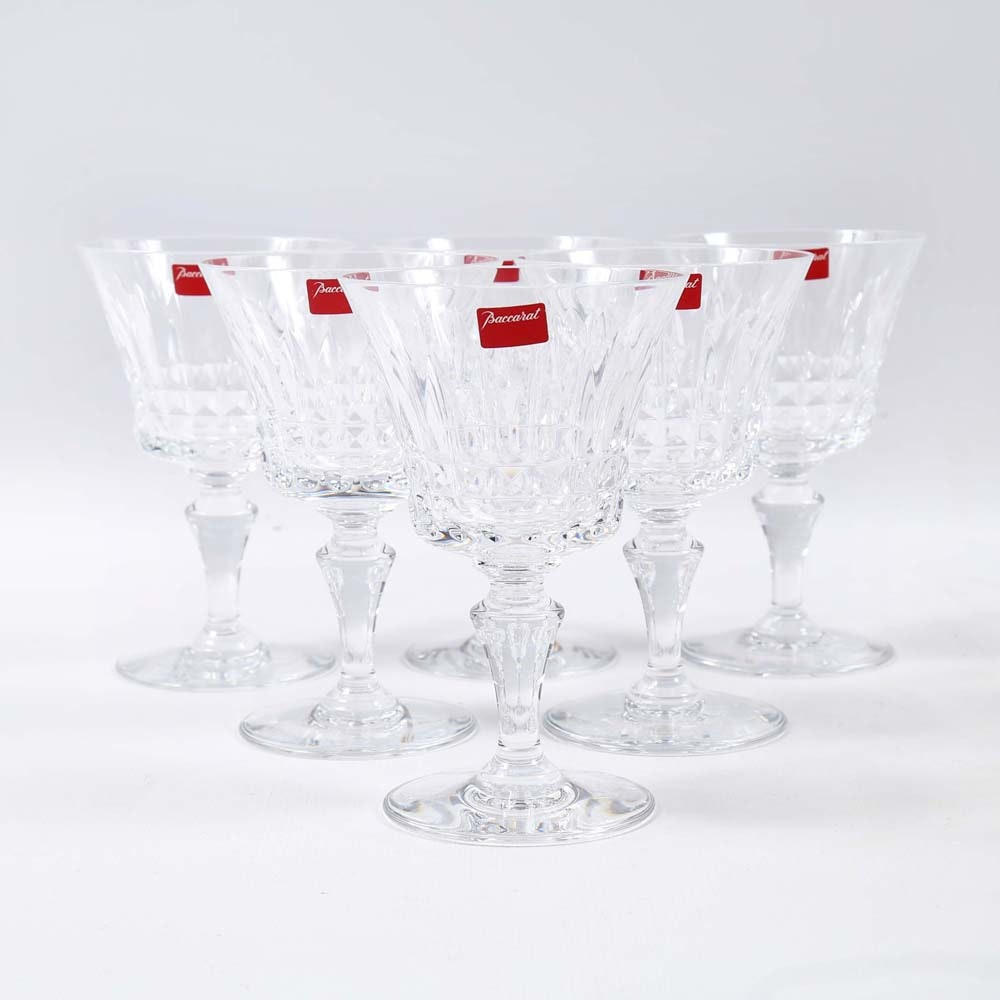 """Baccarat Crystal """"Piccadilly""""  Wine Goblets"""